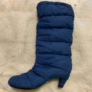UNITED NUDE Rare Heel Quilted Boots in blue sz.41